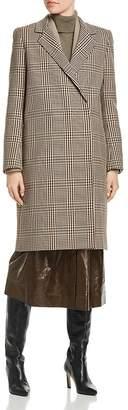 Lafayette 148 New York Emmalyse Check-Patterned Wool Coat