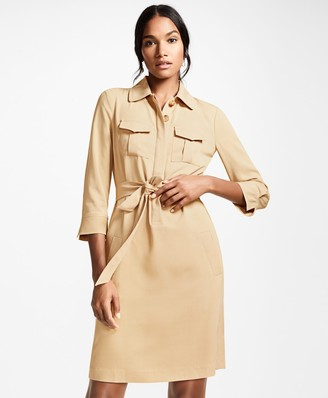 Brooks Brothers Twill Shirt Dress