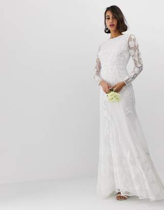 Asos Edition EDITION embellished applique wedding dress