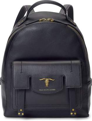 Ralph Lauren Steer-Head Leather Backpack