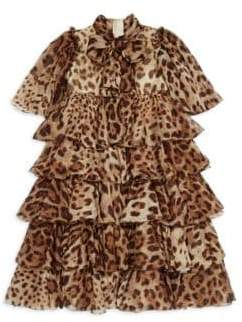 Dolce & Gabbana Little Girl's& Girl's Leopard Chiffon Dress