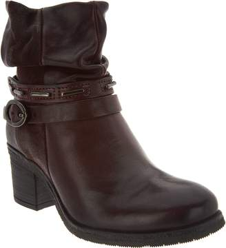 Miz Mooz Leather Block Heel Ankle Boots - Serenity