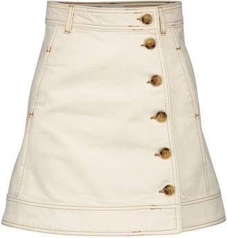 Ganni Short buttoned skirt