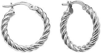 GABIRIELLE JEWELRY Silver Braided Hoops