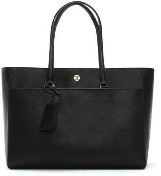 Tory Burch Robinson Black Leather Tote Bag