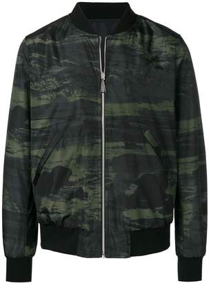 Paul Smith camouflage print bomber jacket