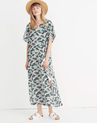 Madewell Gibraltar Cover-Up Maxi Dress in Mini Palms