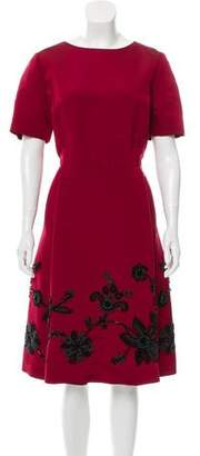 Oscar de la Renta Embellished Dress