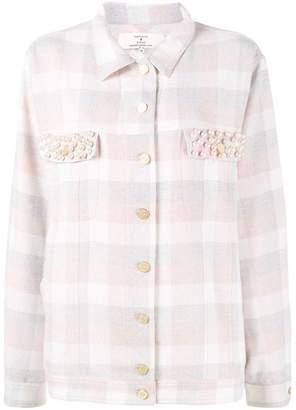 Natasha Zinko pearl embellished check shirt