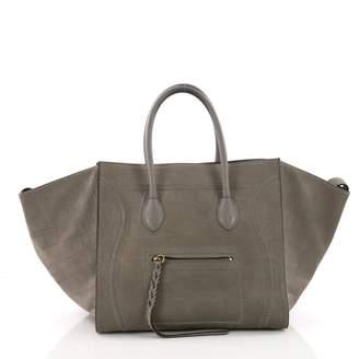 55ff1461ef75 ... Celine Luggage Phantom Grey Crocodile Handbag