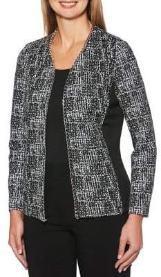 Rafaella Petite Printed Open-Front Jacket