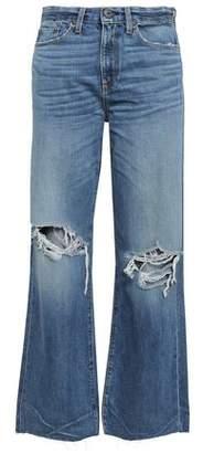 Simon Miller Basin Distressed High-rise Wide-leg Jeans