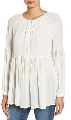 Women's Sincerely Jules 'Cameron' Chiffon Blouse $98 thestylecure.com