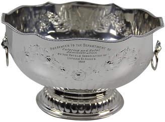 One Kings Lane Vintage English Embossed Punch Bowl - C. 1960