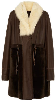 Chloé Reversible Shearling Coat - Dark brown