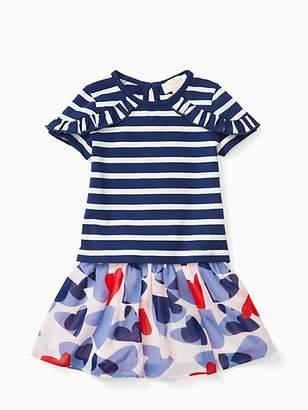 Kate Spade Infant confetti hearts skirt set
