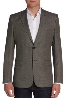 Versace Birdseye Cotton & Linen Blazer