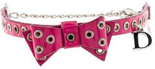 Christian Dior Christian Dior Leather Bow Bracelet