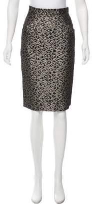 Tibi Jacquard Animal Print Skirt