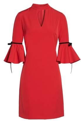 Julia Jordan Choker Bell Sleeve Dress
