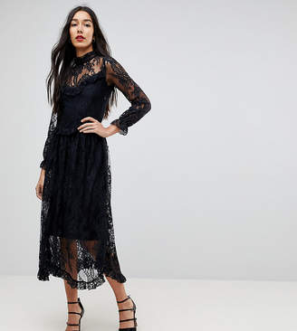 Y.a.s Tall Lace Dress With Ruffle Detail