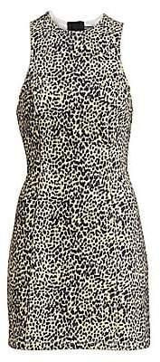 Alexander Wang Women's Cheetah-Print Denim Dress