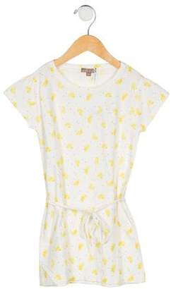 Emile et Ida Girls' Knit Lemon Print Dress w/ Tags