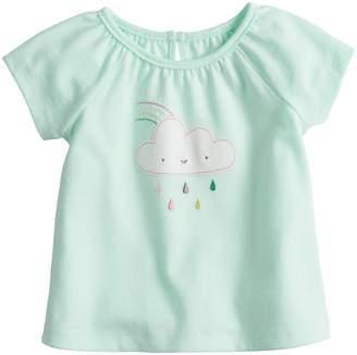 Baby Girl Jumping Beans Cloud & Rainbow Applique Tee