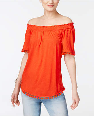 INC International Concepts Popsicle® Off-The-Shoulder Top, Only at Macy's $49.50 thestylecure.com