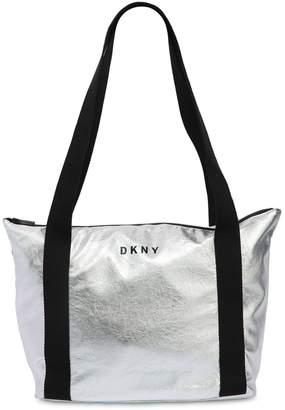 DKNY Metallic Faux Leather Shoulder Bag