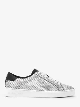 MICHAEL Michael Kors Irving Metallic Embossed Leather Sneaker