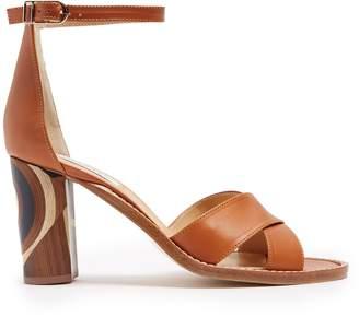 GABRIELA HEARST John psychedelic-print heel suede sandals