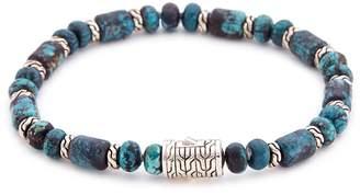 Turquoise bead silver bracelet