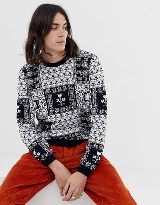 Asos Design DESIGN knitted jumper with baroque design