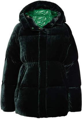 Moncler Butor Velvet Down Jacket with Silk