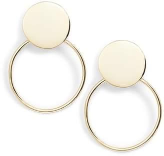 Argentovivo Flat Disc Double Drop Earrings