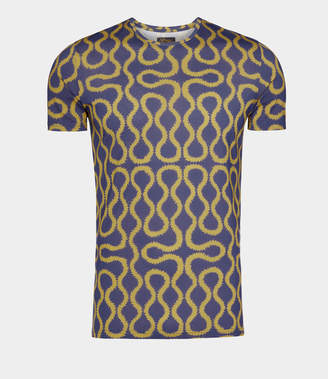 Vivienne Westwood Squiggle T-Shirt Gold/Blue