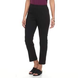 Dana Buchman Women's Jacquard Pull-On Ankle Pants