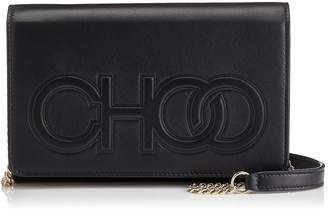 Jimmy Choo SONIA Black Nappa Leather Day Bag with Chain Strap