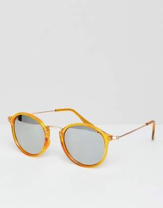 PrettyLittleThing Reflective Lense Round Sunglasses
