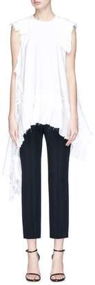 Alexander McQueen Asymmetric ruffle sleeveless top