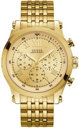 GUESS Goldtone Stainless Steel Chronograph Watch
