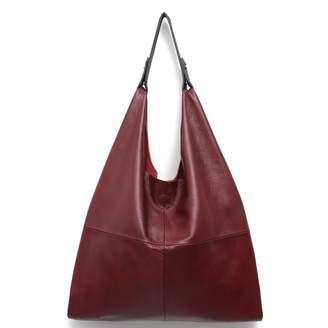 Women s Handbag STEPHIECATH Genuine Leather Slouchy Hobo Shoulder Bag Large  Casual Soft Handmade Tote Bags Ladies 30c4750332820
