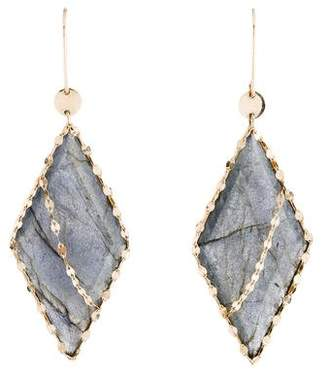 Lana 14K Labradorite Lumos Edge Drop Earrings