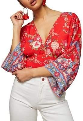 Miss Selfridge Saskia Kimono Cropped Blouse