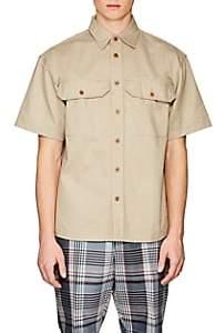 Gosha Rubchinskiy Men's Cotton Twill Shirt-Beige, Tan