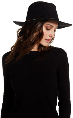 Collection XIIX Faux Suede Panama Feather Hat $36 thestylecure.com