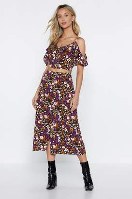 Nasty Gal Please Don't Grow Floral Skirt