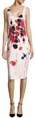 David Meister Floral-Print Sheath Dress