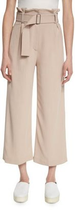 A.L.C. Dillon Belted Paperbag-Waist Gaucho Pants, Whisper $425 thestylecure.com